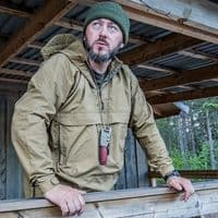Helikon Woodsman Anorak Jacket - Coyote & Ash Grey